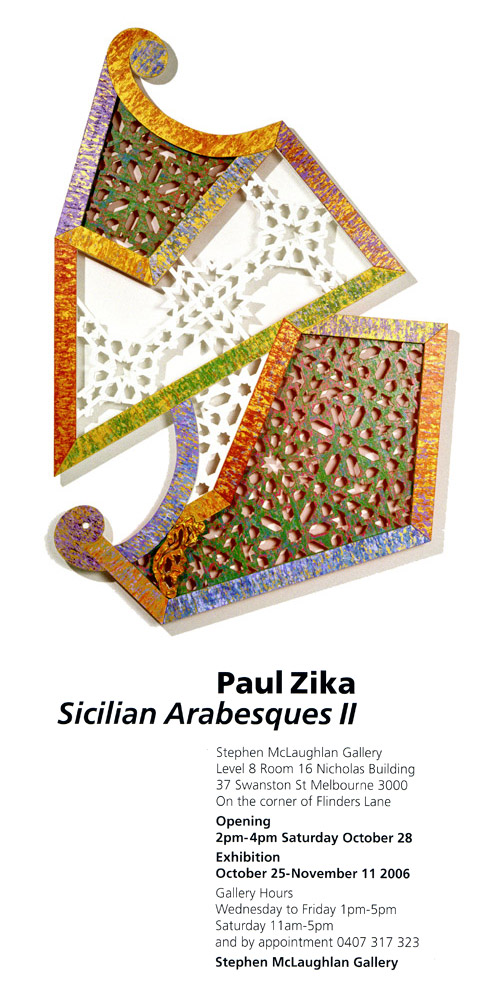 Sicilian Arabesques II - Paul Zika